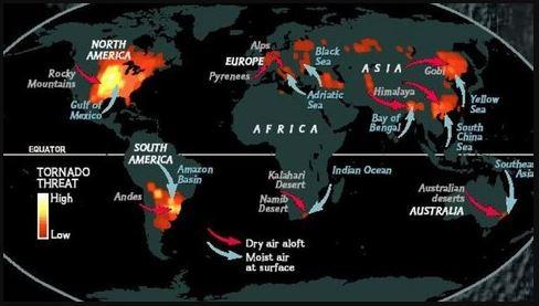 paises donde hay tornados