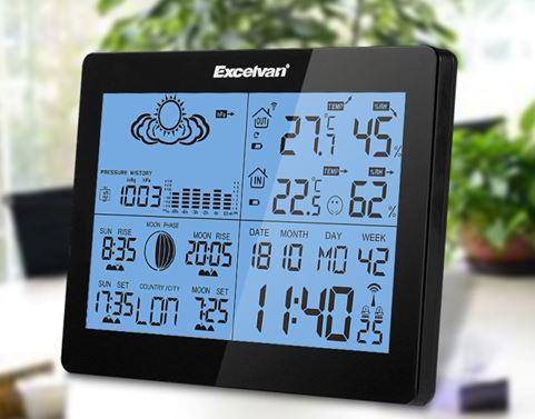 estacion meteorologica excelvan instrucciones